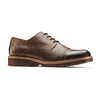 Stringate uomo marroni con decorazioni Brogue bata-light, marrone, 824-4977 - 13