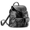 Zaino nero con borchie bata, nero, 961-6150 - 13