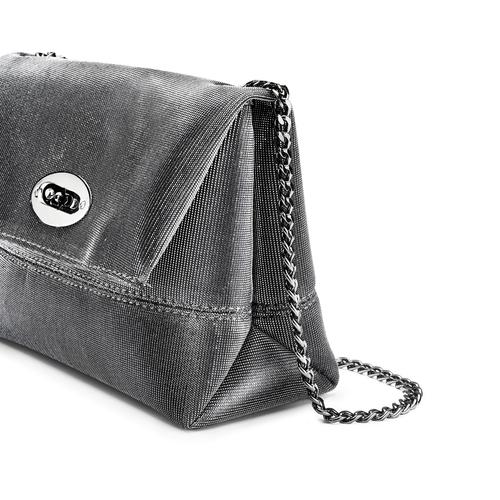 Minibag argento con tracolla bata, 969-2194 - 15