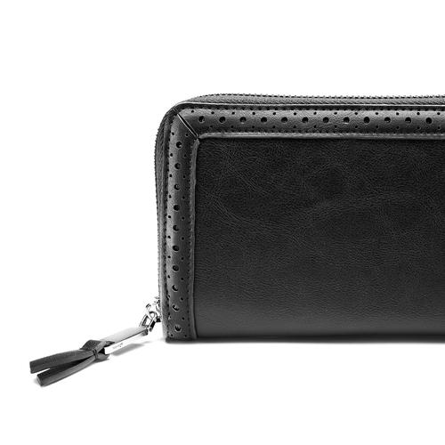 Portafoglio da donna in similpelle bata, nero, 941-6159 - 15