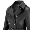 Trench da donna con cintura bata, nero, 979-6180 - 15