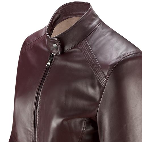 Giacca in pelle Burgundy da donna bata, rosso, 974-5175 - 15