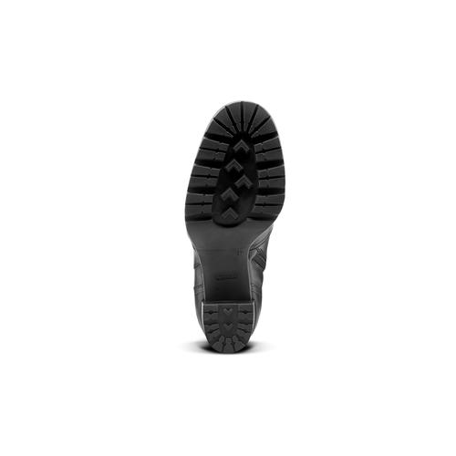 Stivali alti con tacco bata, nero, 794-6159 - 17