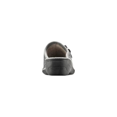 Pantofole donna in lana bata, grigio, 579-2421 - 16