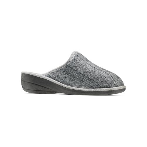 Pantofole in lana bata, grigio, 579-2370 - 13
