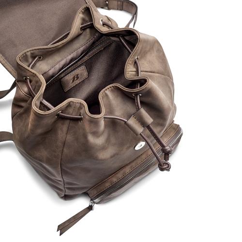 Zaino da donna con coulisse bata, marrone, 961-4189 - 16