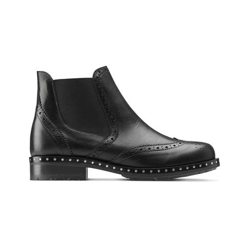 Stivaletti alla caviglia in pelle bata, nero, 594-6184 - 26