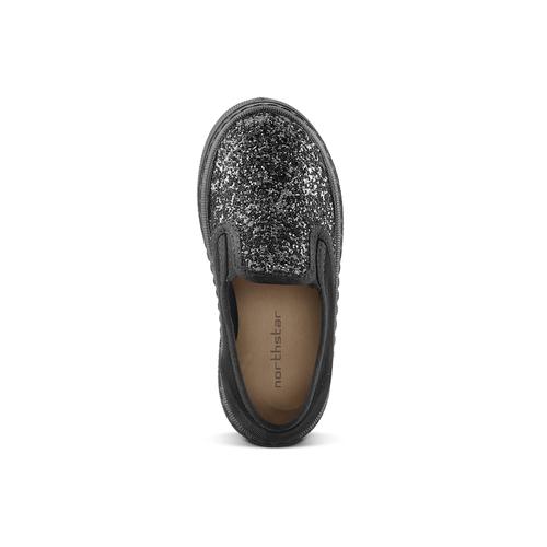 Slip on velluto con glitter, nero, 229-6211 - 15