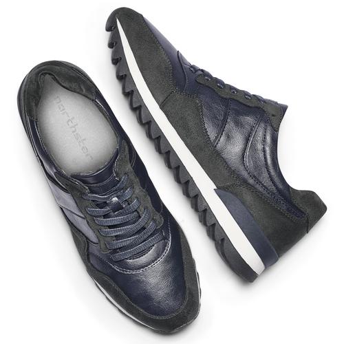 Sneakers casual da uomo north-star, blu, 841-9738 - 19