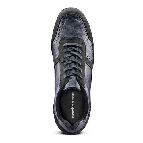 Sneakers da uomo con logo north-star, blu, 841-9737 - 15