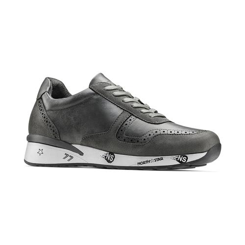 Sneakers da uomo con logo north-star, grigio, 841-2737 - 13