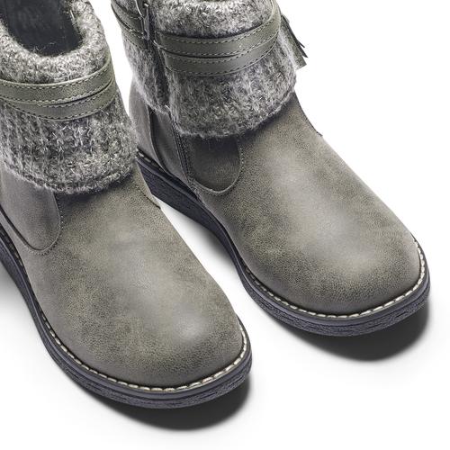 Stivaletti bimba con dettaglio in lana mini-b, grigio, 391-2411 - 15
