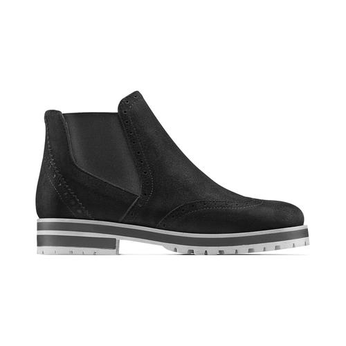 Chelsea Boots in suede da donna bata, nero, 593-6596 - 26