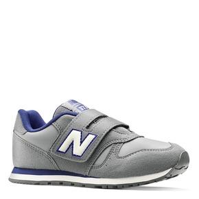 Sneakers da bambino con strap new-balance, grigio, 301-2473 - 13