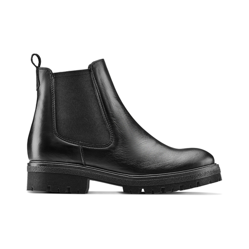 Chelsea Boots in vera pelle bata, nero, 594-6696 - 26