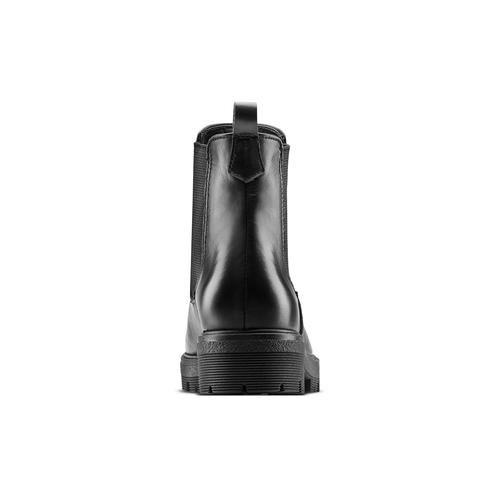 Chelsea Boots in vera pelle bata, nero, 594-6696 - 16