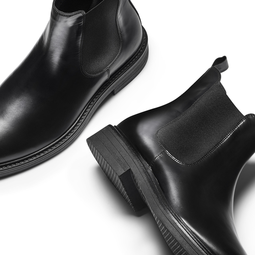 Chelsea Boots in vera pelle bata, nero, 894-6733 - 19