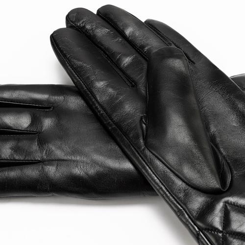 Guanti dettaglio matelassè bata, nero, 904-6131 - 16
