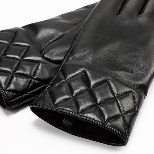 Guanti dettaglio matelassè bata, nero, 904-6131 - 26