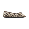 Pantofole da donna a pois bata, marrone, 579-4422 - 26