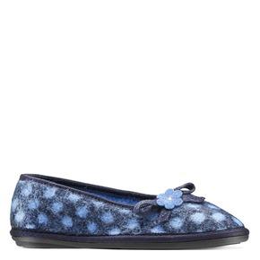 Pantofole in lana cotta da donna bata, viola, 579-9422 - 13