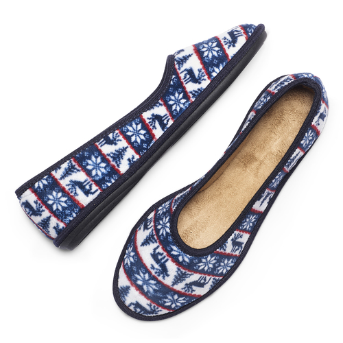 Pantofole in ciniglia bata, blu, 579-9423 - 19