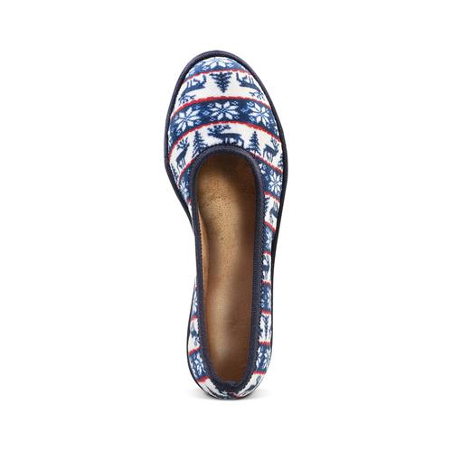 Pantofole in ciniglia bata, blu, 579-9423 - 15