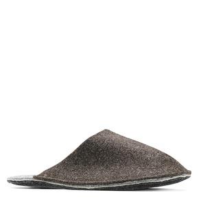 Pantofole da uomo in lana cotta bata, marrone, 879-4114 - 13