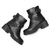 Ankle boots da bambina mini-b, nero, 391-6414 - 19