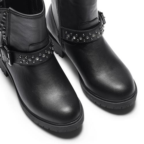 Ankle boots con borchie da bambina mini-b, nero, 391-6410 - 15