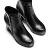 Ankle boots in vera pelle bata, nero, 794-6676 - 17