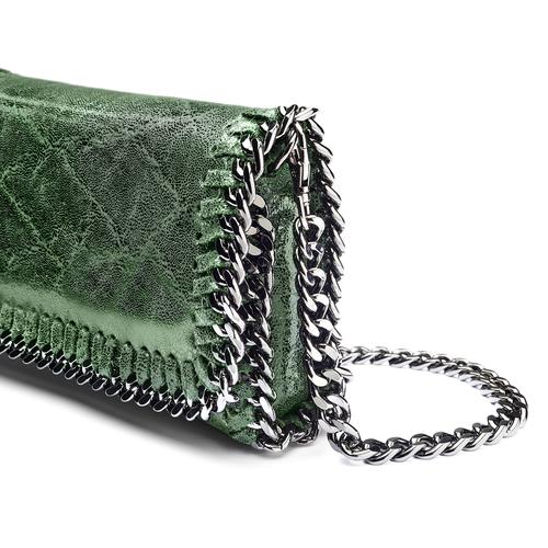Tracolla con dettaglio catena bata, verde, 964-7278 - 15
