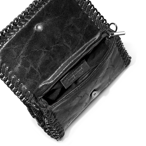 Tracolla in vera pelle bata, nero, 964-6278 - 16