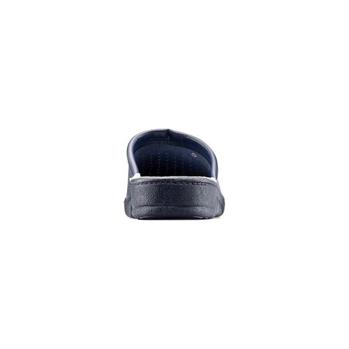 Ciabatte in pelle da uomo bata-comfit, blu, 874-9803 - 16