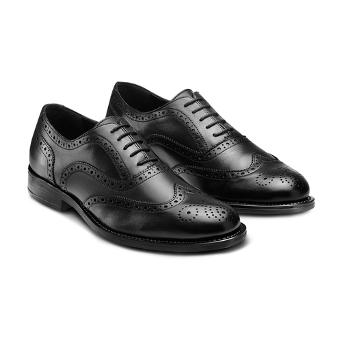 Oxford in pelle bata, nero, 824-6801 - 16