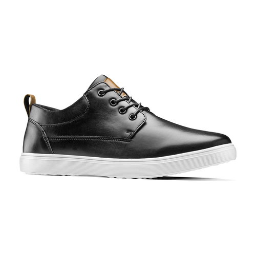 Sneakers in similpelle bata, nero, 841-6154 - 13