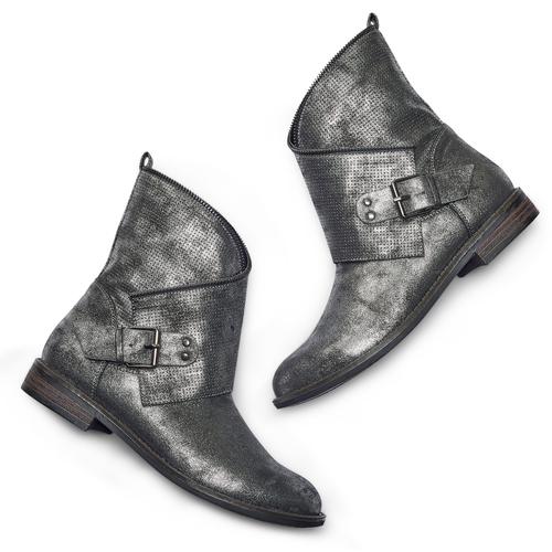 STIVALETTI MILEY CON FIBBIA bata, argento, 591-1692 - 26