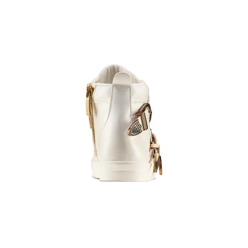 Sneakers alte con fibbie bata, bianco, 541-1193 - 15