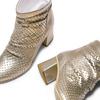 Stivaletti laminati in pelle bata, oro, 694-8229 - 26