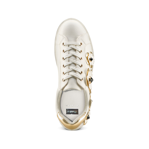 Sneakers con dettagli floreali bata, bianco, 541-1189 - 17
