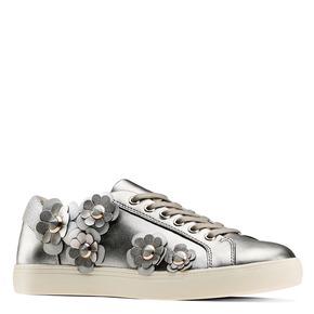 Sneakers con dettagli floreali bata, argento, 541-2166 - 13