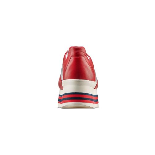 Sneakers con lacci Platform bata, rosso, 644-5198 - 15