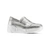 Sneakers Platform con frange bata, argento, 614-1131 - 13