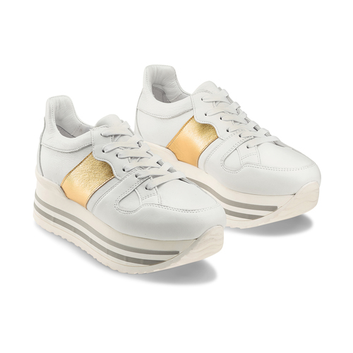 Sneakers Platform da donna bata, bianco, 644-1198 - 16