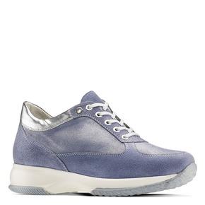 Sneakers casual con lacci bata, blu, 523-9306 - 13