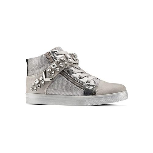 Sneakers alte da bambina mini-b, grigio, 329-2301 - 13