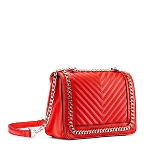 Tracolla con dettaglio catena bata, rosso, 961-5275 - 13