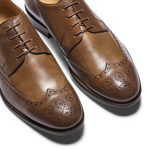 Stringate con dettagli Brogue bata-the-shoemaker, marrone, 824-4342 - 19