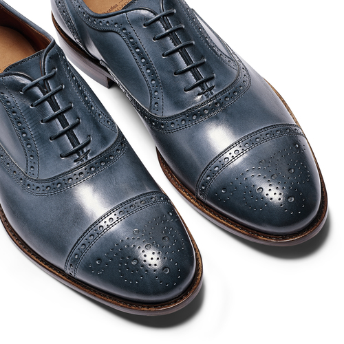 Stringate con lavorazione Brogue bata-the-shoemaker, blu, 824-9337 - 19