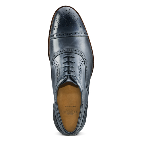 Stringate con lavorazione Brogue bata-the-shoemaker, blu, 824-9337 - 15